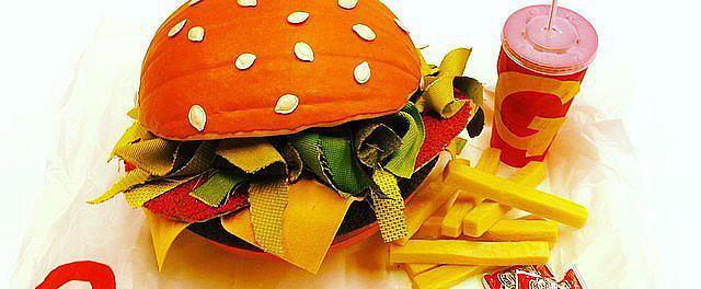 Carve Your Pumpkin Into . . . A BURGER This Halloween