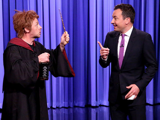 Simon Pegg Channels a Drunk Ron Weasley to Wish Harry Potter a Happy 35th Birthday on Fallon (VIDEO)
