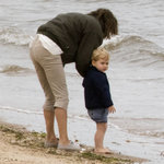 Prince George Pictures on the Beach With Carole Middleton