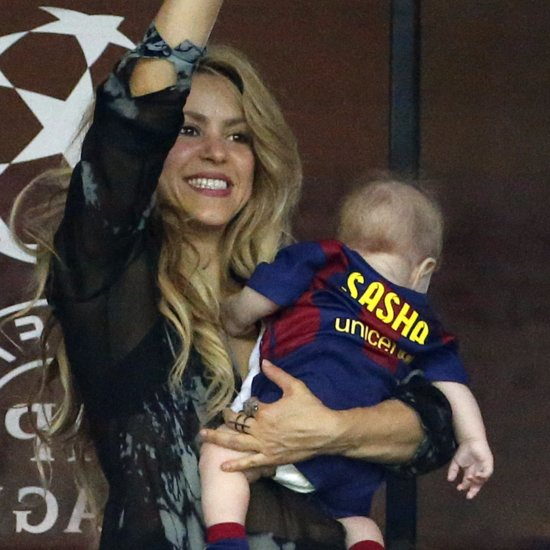 Shakira and Gerard Piqué's Son Sasha Kicking Soccer Ball