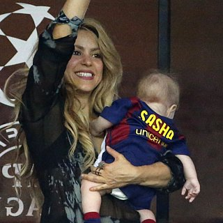Shakira and Gerard Piqué's Son Sasha Kicking Soccer Ball