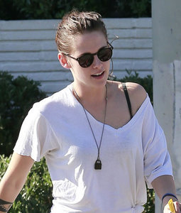 Kristen Stewart out in LA ahead of American Ultra promotion