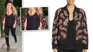 Hilary Duff's Embellished Jacket Will Add The Perfect Pop Of Color To Any Outfit