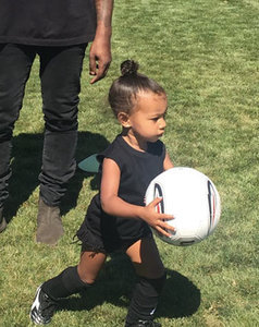 Kim Kardashian Is Officially a Soccer Mom: New North West Photos!