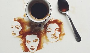 Artist Creates Incredible Art From Coffee Stains