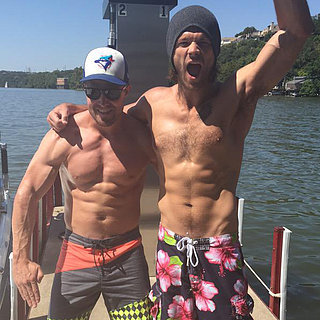 Jared Padalecki Shirtless With Stephen Amell