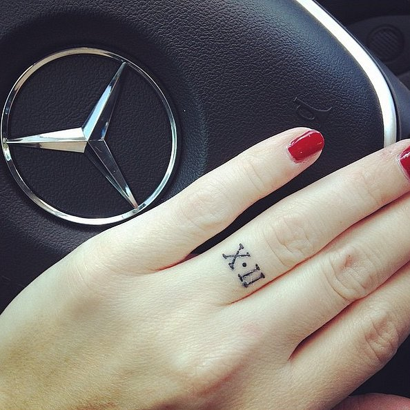 Love is forever 30 roman numeral tattoos that will mark for Roman numerals tattoo on finger