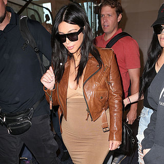 Kim Kardashian Nude Top at the Airpo