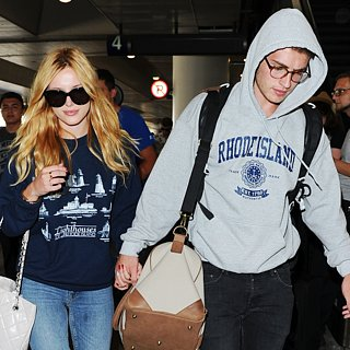 Bella Thorne and Gregg Sulkin Matching Airport Outfits