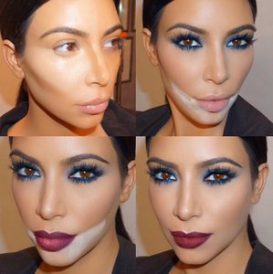 Kim Kardashian Baking Makeup Trend