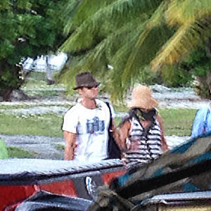 Jennifer Aniston & Justin Theroux Bora Bora Honeymoon Photos