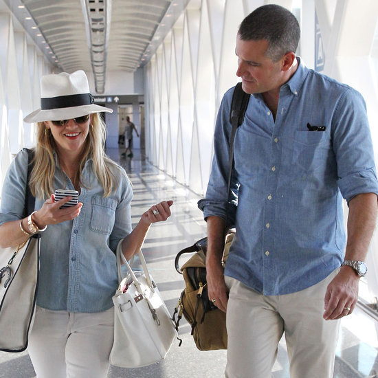 Reese Witherspoon and Jim Toth Matching at the Airport