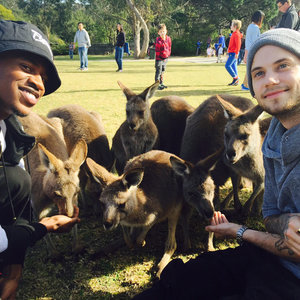 Pictures of MKTO Malcolm Kelley and Tony Oller in Australia
