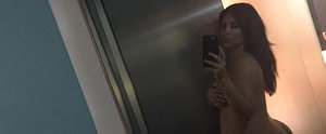 Kim Kardashian Goes Completely Naked, Shows Off Her Growing Baby Bump