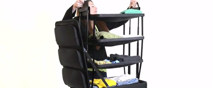 This Suitcase With Built-In Shelves Is the Packing Savior of Your Dreams