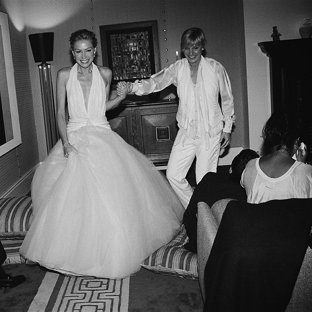 Portia shared a sweet photo from their wedding on Instagram in June 2015.