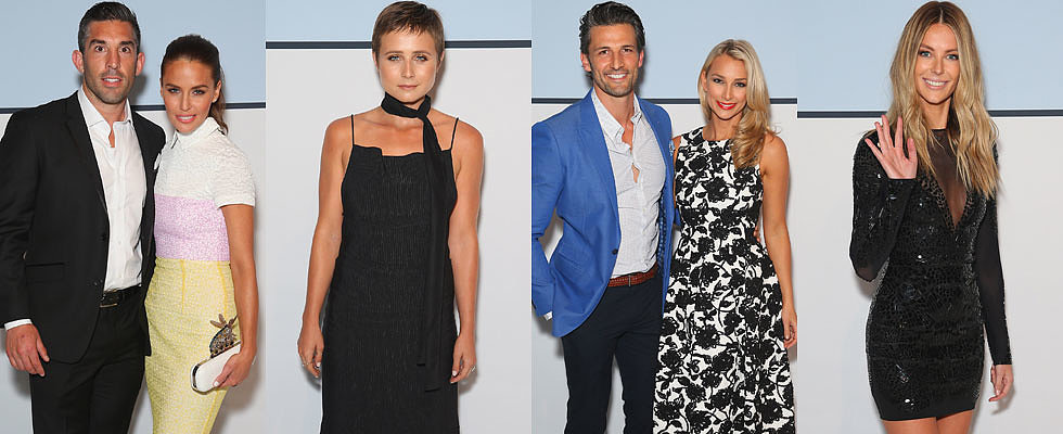 Celebrity Couples and Stylish Stars Join Jennifer Hawkins on the Myer Black Carpet