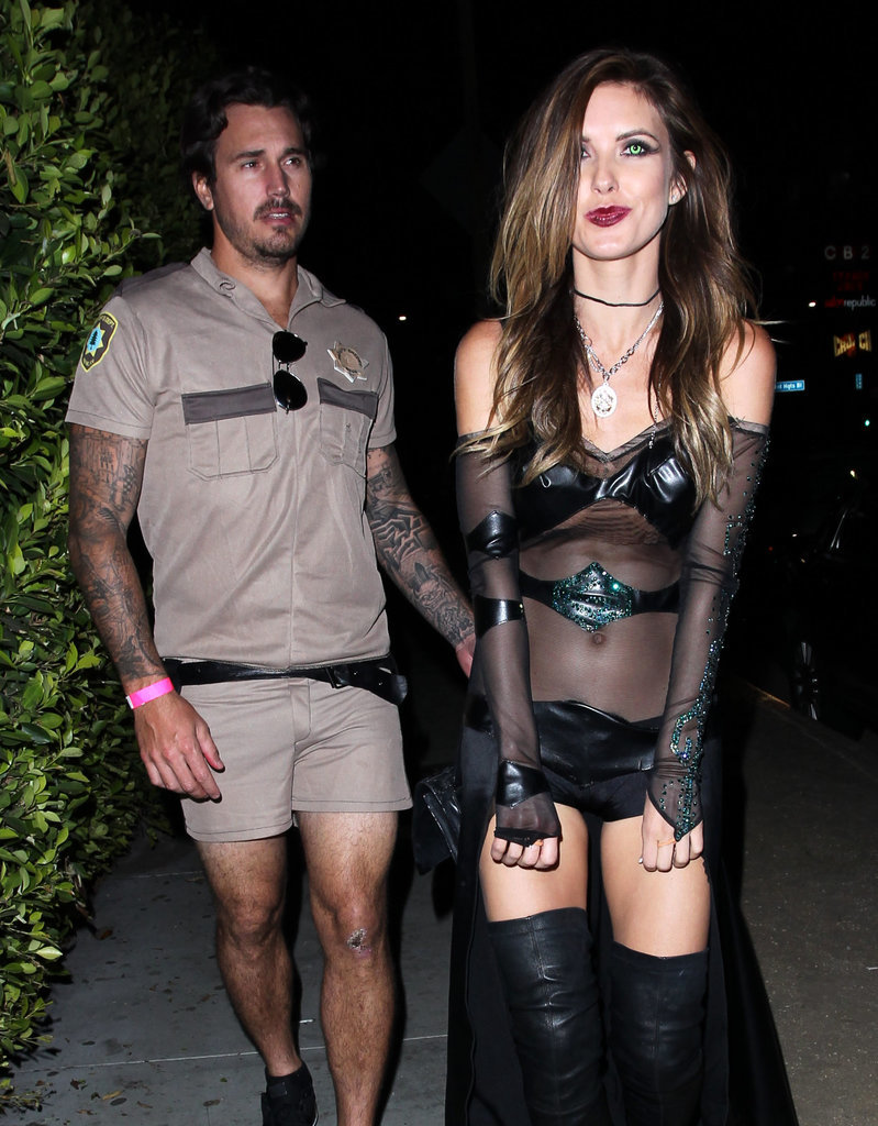 Audrina Patridge went goth in a see-through ensemble and Corey Bohan  played Lt. Dangle from Reno 911! in LA in 2014.