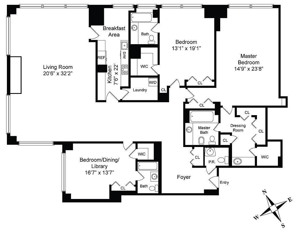 Cristiano ronaldo 39 s trump tower apartment popsugar home for Floor plans new york city apartments