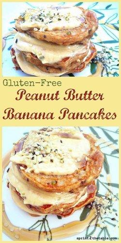 Grain-Free Peanut Butter Banana Pancakes