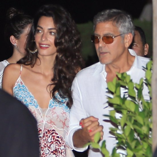 George and Amal Clooney Have Dinner With Cindy Crawford