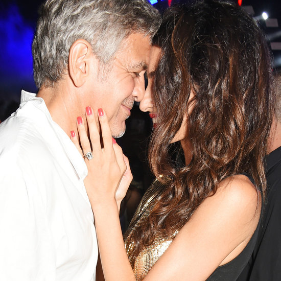 Pictures of George and Amal Clooney Showing PDA in Ibiza