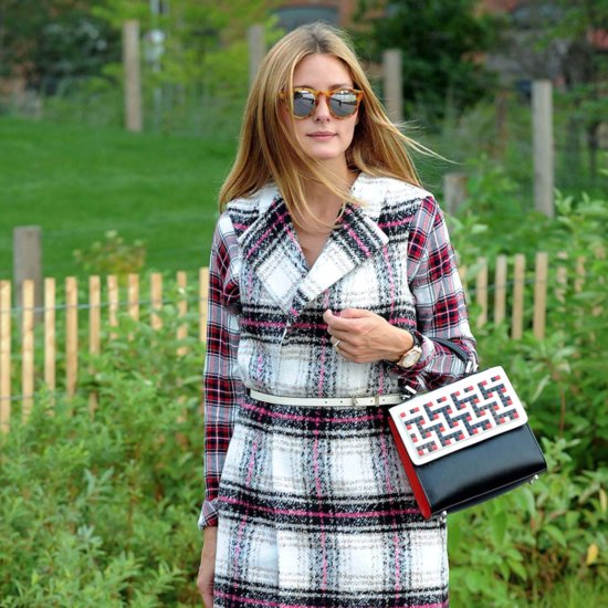 Olivia Palermo Wearing Plaid Coat