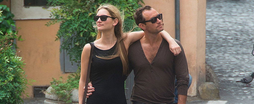 Jude Law and His Girlfriend Pack On the PDA During a Romantic Trip to Rome
