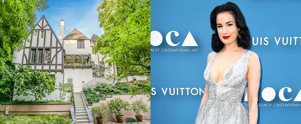 Of Course Dita Von Teese Lives in a Tudor-Style Mansion in LA