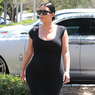 Kim Kardashian Pregnant Black Dress