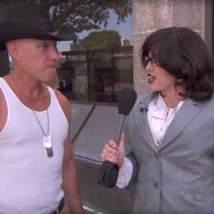 Miley Cyrus Undercover as Australian Reporter Jimmy Kimmel