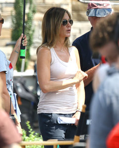 Jennifer Aniston on the set of Mother's Day in Atlanta