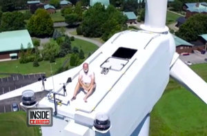 Drone Catches Monk Sunbathing on 240-Foot Rhode Island Wind Turbine: Crazy Video, Photos!