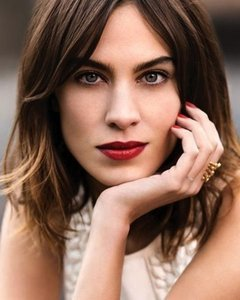 Alexa Chung Wows In Red Lipstick For Harper's Bazaar Argentina