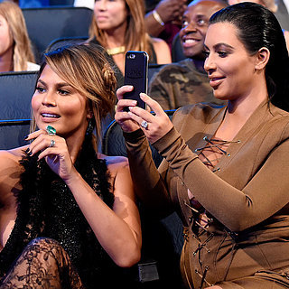 Kim Kardashian and Chrissy Teigen Taking Selfies at the VMAs