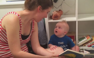 Watch Baby Bookworm's Priceless Reaction To The Words 'The End'