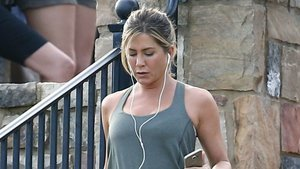 Jennifer Aniston Looks Super Fit During an On-Set Workout and We Can't Even Handle It!