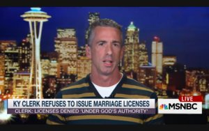 "Dan Savage Rips Into Homophobic KY Clerk: She's ""Waiting To Cash In"""