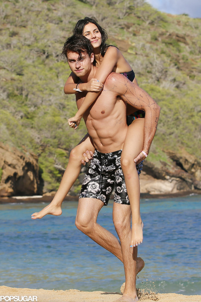 Victoria Justice and Pierson Fode on the Beach in Hawaii | POPSUGAR ...