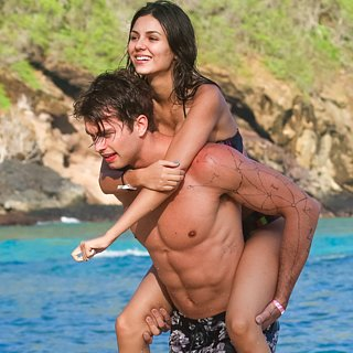 Victoria Justice and Pierson Fode on the Beach in Hawaii