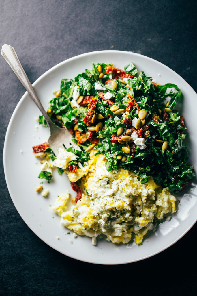 Kale With Chorizo And Poached Eggs Recipe — Dishmaps