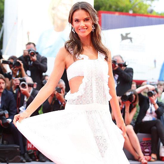 Alessandra Ambrosio's White Dress at Venice Film Festival