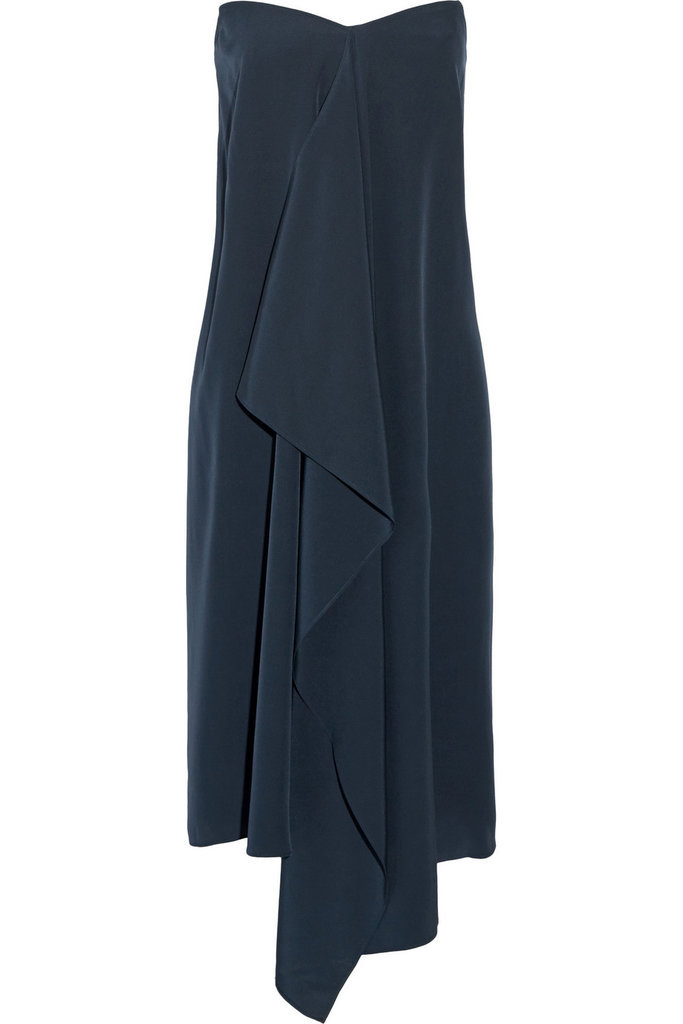 Tibi Asymmetric Silk Crepe De Chine Strapless Dress ($695)