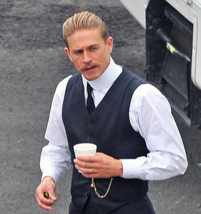 Charlie Hunnam's moustache and Robert Pattinson on set of The Lost City Of Z