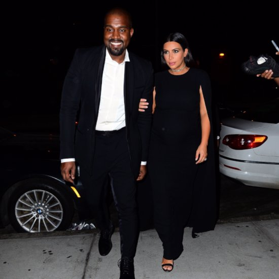 Kim Kardashian and Kanye West Attend a Wedding 2015