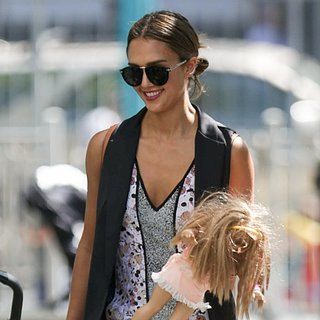 Jessica Alba at a Playground in New York City