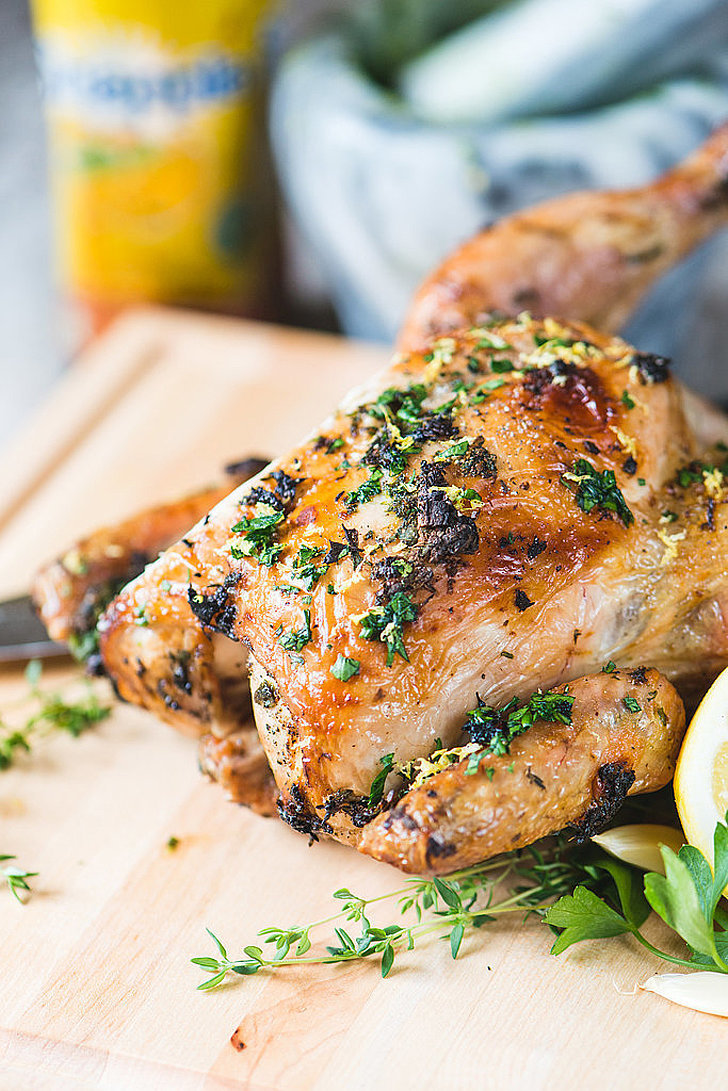 Lemon Herb Beer-Can Chicken