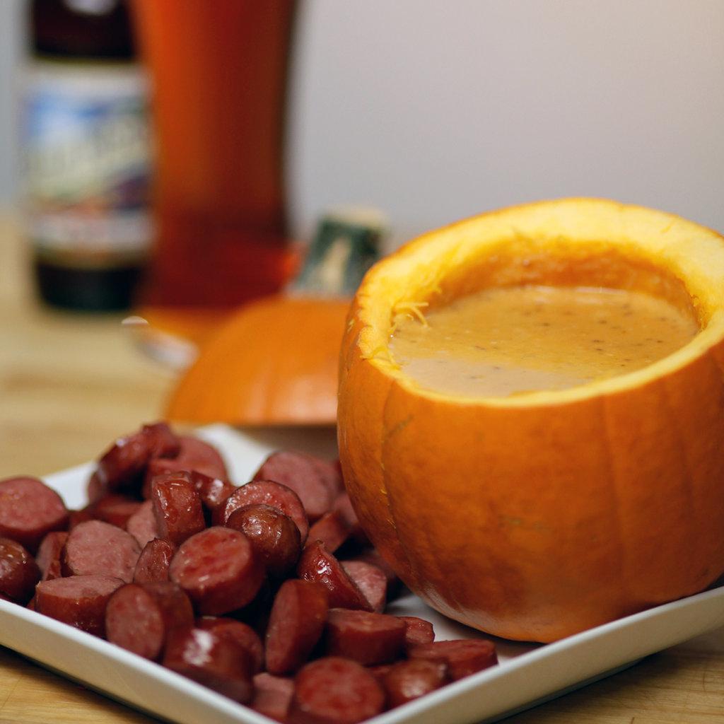 Cheddar, Beer, and Pumpkin Dip