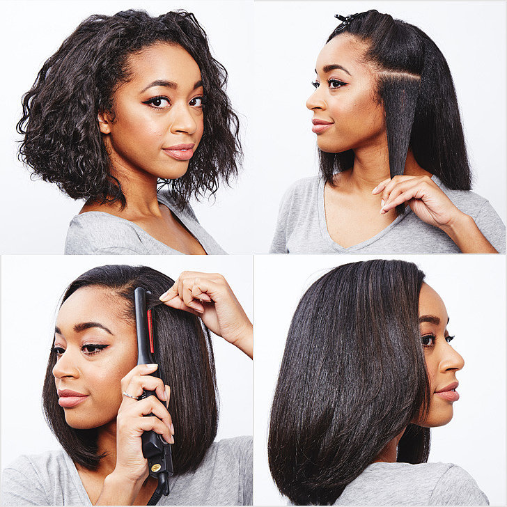 How To Straighten Curly Hair Popsugar Beauty