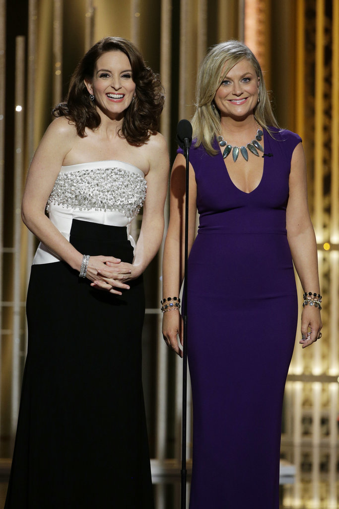 Tina and Amy were all smiles when they hit the stage at the 2015 Golden Globe Awards.